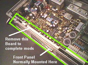 Key Showing Control Head Interface Board Layout