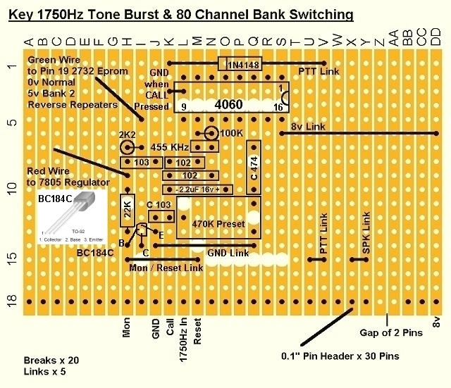 1750Hz Key Tone Burst Circuit